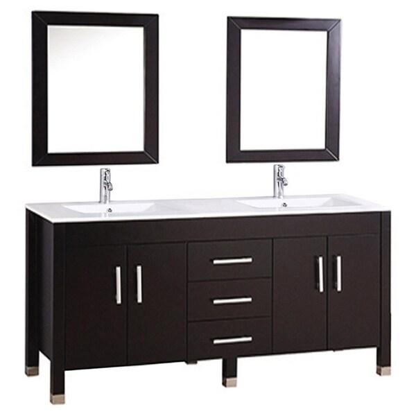 Mtd Vanities Monaco 63 Inch Double Sink Bathroom Vanity Set With Mirror And Faucet 17511414