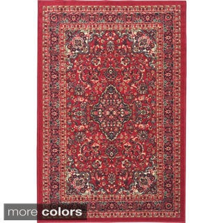 Ottohome Collection Persian Heriz Oriental Design Red Non-skid Area Rug (2'7 x 4'1)