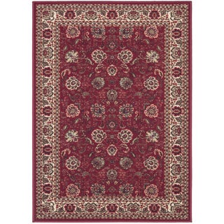 Ottomanson Ottohome Collection Persian Style Rug Oriental Rugs Red Non-skid Area Rug (2'7 x 4'1)