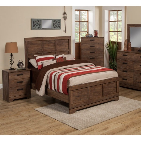 Sandberg Furniture Urban Village Queen Bed and Two Nightstand Bedroom Set