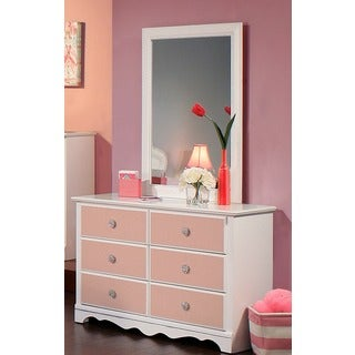 Sandberg Furniture Sabrina Dresser and Mirror