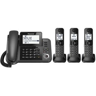 Panasonic KX-TGF383M DECT 6.0 3-handset Bluetooth Landline Telephone with Corded Base Unit
