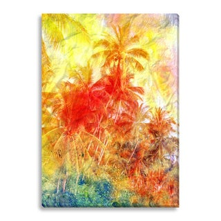 FTOLIA 'Beautiful watercolor palm trees' Canvas Gallery Wrap