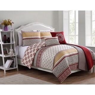 Sebastian 6 Piece Comforter Set with Bonus Quilt