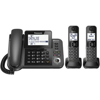 Panasonic KX-TGF382M DECT 6.0 2-handset Bluetooth Landline Telephone with Corded Base Unit