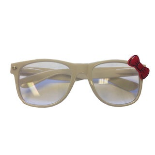 White Glasses with Red Bow