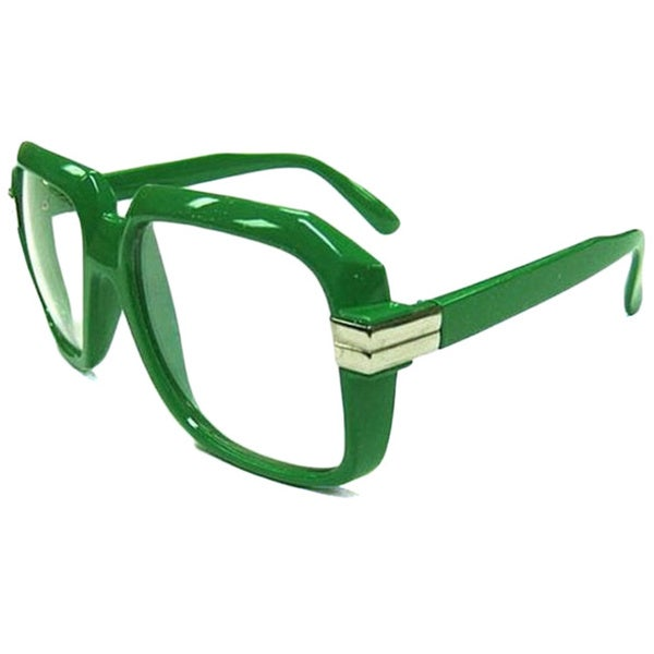 Oversized Green Hip Hop Glasses