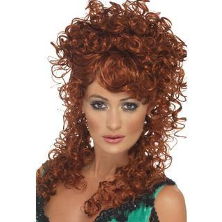 Auburn Western Saloon Girl Curly Red Wig