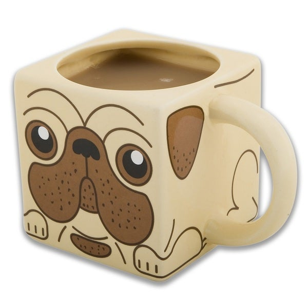 Pug Mug Square 12-ounce Ceramic Cup