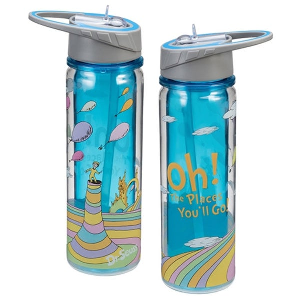 Dr. Seuss Oh The Places You'll Go Tritan Acrylic 18-ounce Water Bottle 15954442