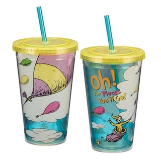 Dr. Seuss Oh The Places You'll Go 18-ounce Arcylic Travel Cup