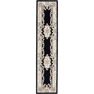 Heritage Black Runner Rug (2.5' x 10')