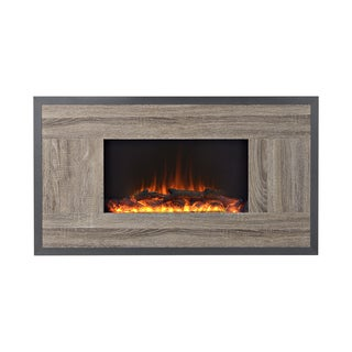 Oland 41-inch Wide Wall Mount Firebox in Reclaimed Wood