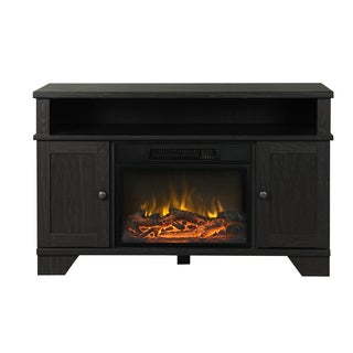 Hamilton 44.5-inch Wide Media Fireplace in Black Oak