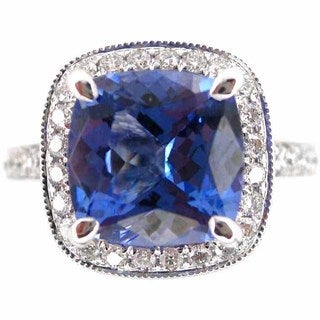 Kabella 18k White Gold Tanzanite 1/2ct TDW Diamond Ring (G-H, SI1-SI2) (Size 6.75)