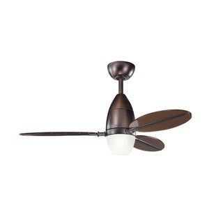 Kichler Lighting Riggs Collection 44-inch Oil Brushed Bronze Ceiling Fan with Light