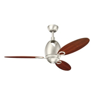 Kichler Lighting Merrick Collection 52-inch Brushed Nickel Ceiling Fan with Light