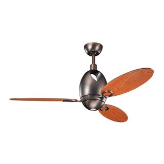 Kichler Lighting Merrick Collection 52-inch Brushed Oil Bronze Ceiling Fan with Light