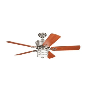 Kichler Lighting Chicago Collection 52-inch Brushed Nickel Ceiling Fan with Light
