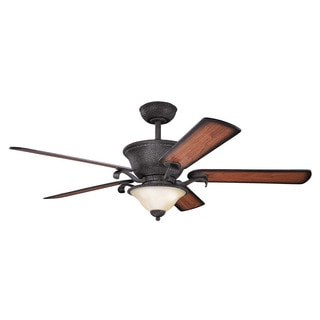 Kichler Lighting High Country Collection 56-inch Distressed Black Ceiling Fan with Light