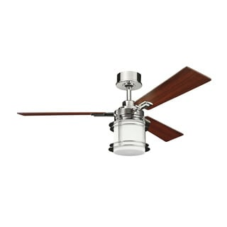 Kichler Lighting Pacific Edge Collection 52-inch Polished Nickel Ceiling Fan with Light