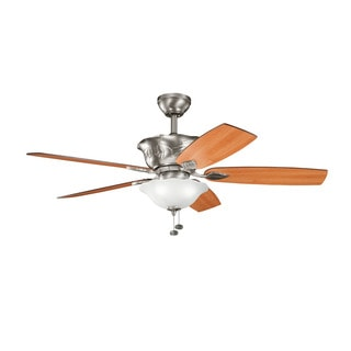 Kichler Lighting Tolkin Collection 52-inch Antique Pewter Ceiling Fan with Light
