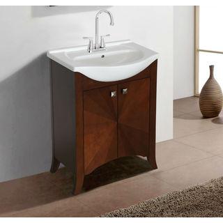 Legion Furniture 24-inch Royal Walnut Single Sink Vanity