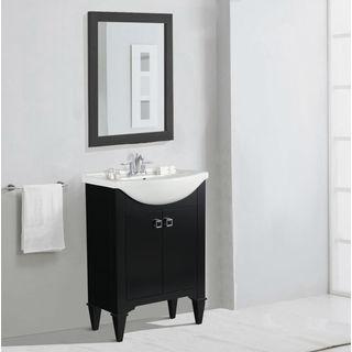 Legion Furniture 24-inch Espresso Single Sink Vanity with Mirror