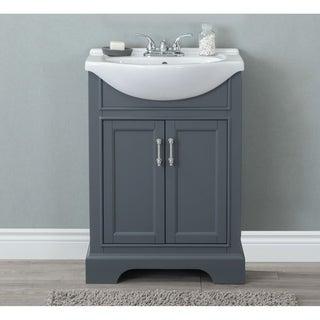 24-inch Dark Grey Sink Vanity