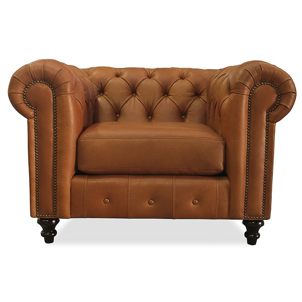 Patrick Italian Leather Brown Chair