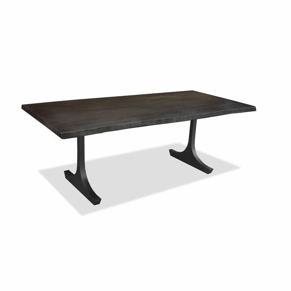 Portland Live Edge Honey Finish Dining Table