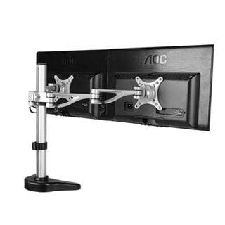 Fleximounts 10 to 27-inch Dual Arm Computer Monitor Desk Mount