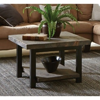 Alaterre Pomona Metal and Reclaimed Wood Square Coffee Table