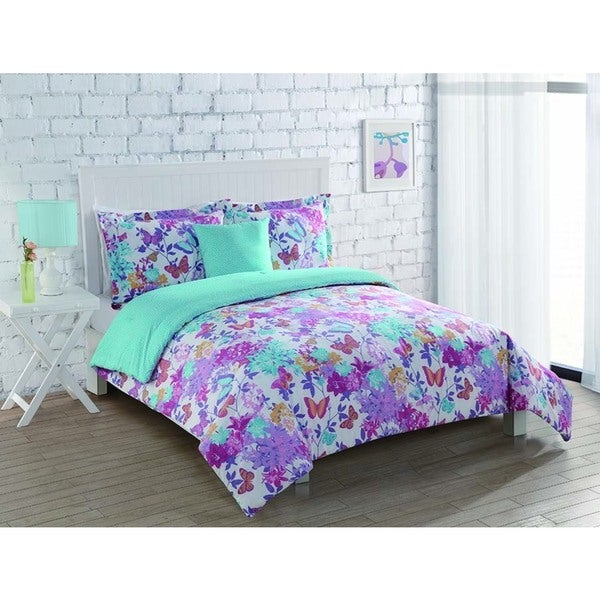 Butterfly Winds Reversible 3-piece Comforter Set