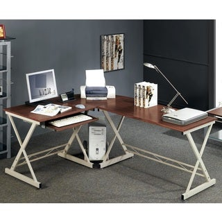 Merax Walnut Finish Corner Computer Desk (S-212)