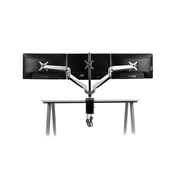 Loctek Premier Series Triple Arm 10 to 27-inch Monitor Desk Mount