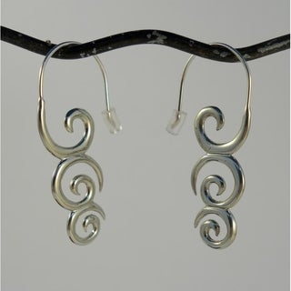 Koru Koru' by Spirit Tribal Fusion Dangle Earrings (Indonesia)