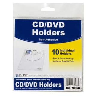 C-Line Products Self-Adhesive CD Holder, 5-1/3 x 5-2/3, 10/PK (Set of 5 PK)