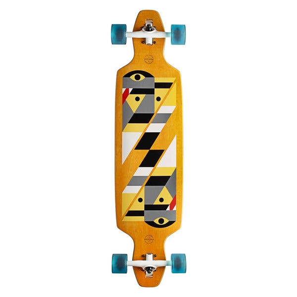 GoldCoast Serpentagram Yellow Drop Through Complete Longboard