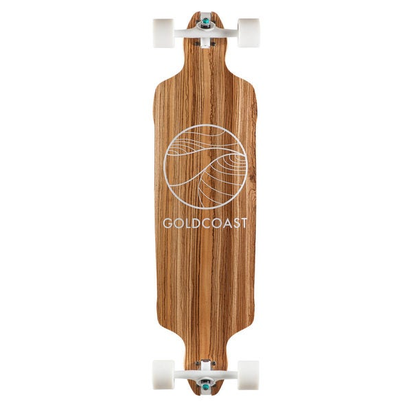GoldCoast Classic Zebra Drop Through Complete Longboard