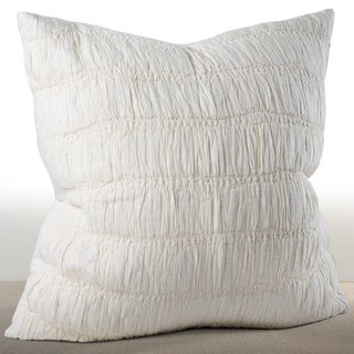 Freya Ivory Ruched Cotton Euro Sham