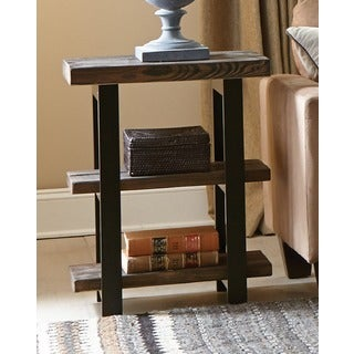 Alaterre Pomona 2-shelf Metal and Reclaimed Wood Rustic End Table