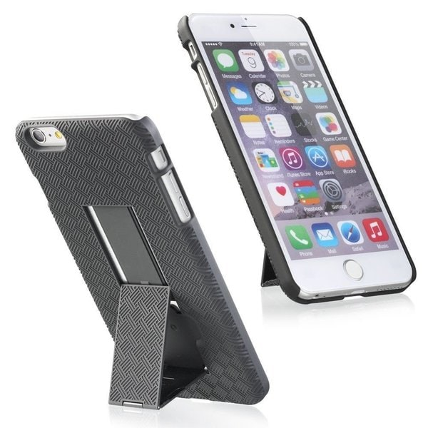 Nartik Black Swivel Holster Kickstand Phone Case with Belt Clip for Apple iPhone 6 Plus