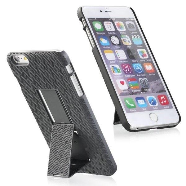 Nartik Black Swivel Holster Kickstand Phone Case with Belt Clip for Apple iPhone 6 Plus