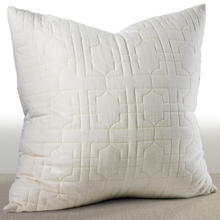 Riviera Ivory Embroidered Cotton Euro Sham