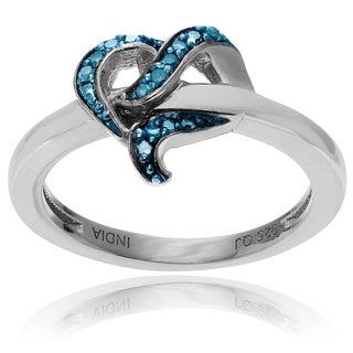 Journee Collection Sterling Silver 1/6 TDW Diamond Ring