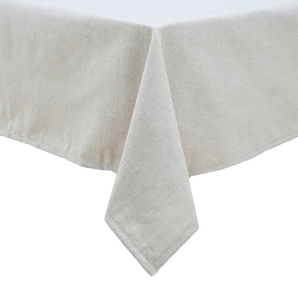 Linen Natural Hemmed Tablecloth