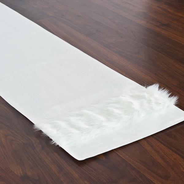 Magnum White Fur-trimmed Throw