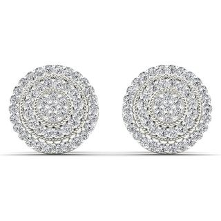 De Couer 10k White Gold 1/4ct TDW Diamond Halo Earring (H-I, I2)
