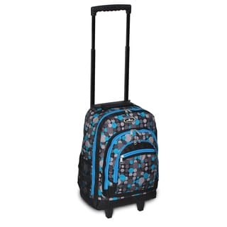 Everest 18-inch Blue and Grey Dot Rolling Backpack